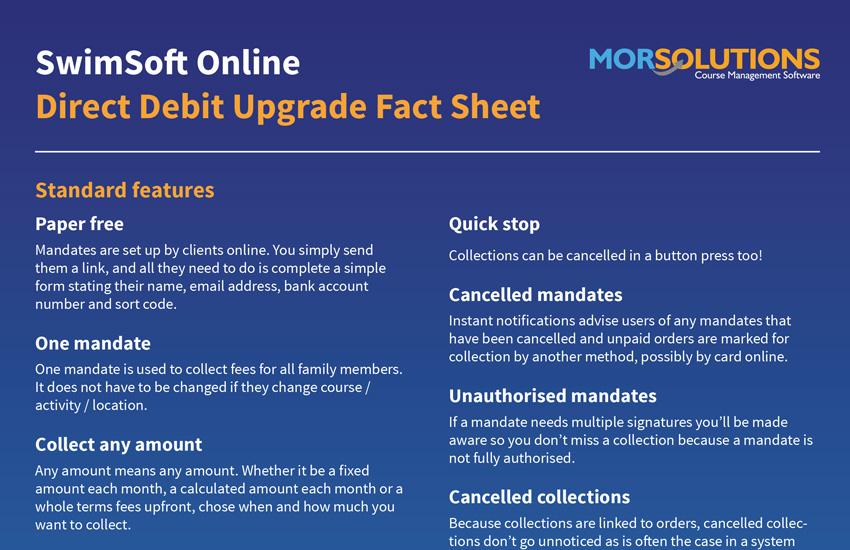 Direct Debit Factsheet